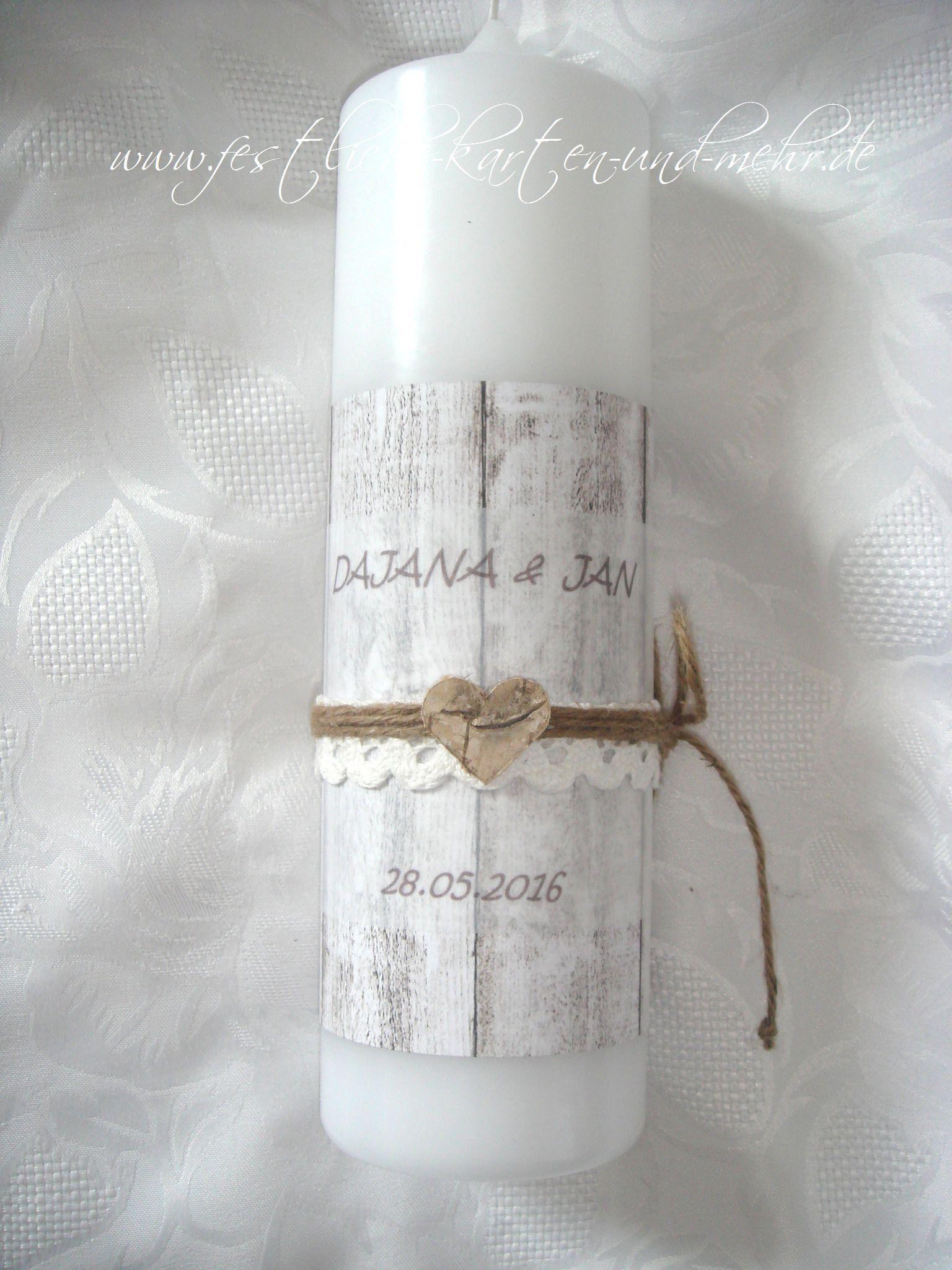Moderne Hochzeitskerze Holzoptik Vintage Birkenherz Rustikal Hochzeitskerze Kerze Hochzeit Kerzen