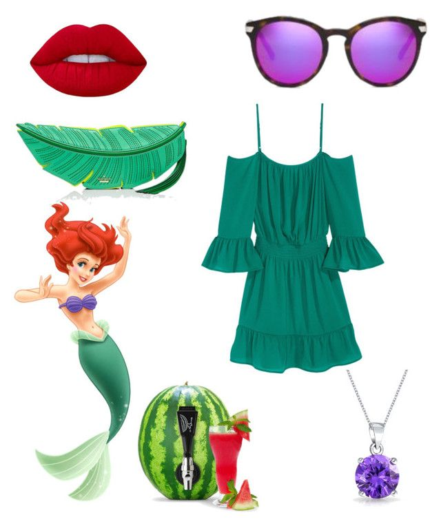 Ariel by glitterbatgirl-5sos on Polyvore featuring polyvore, fashion, style, Kate Spade, Bling Jewelry, Michael Kors, Lime Crime, Frontgate, Disney and clothing