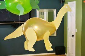 Dicas pra Mamãe: Moldes de Dinossauros feitos com bexigas
