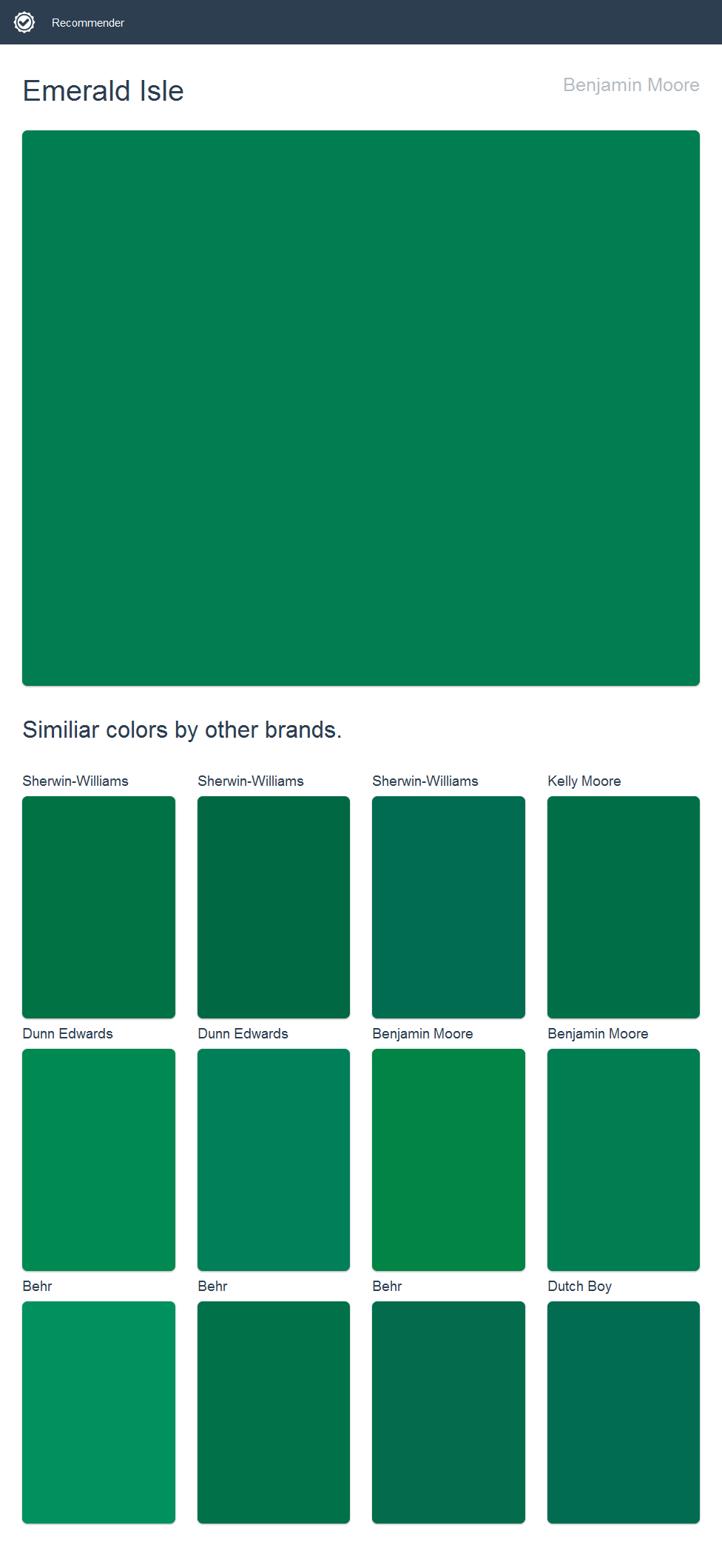 Emerald Green Paint Colors