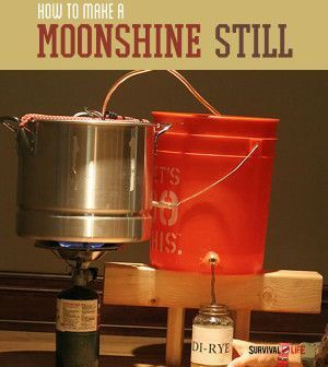 How To Make A Moonshine Still | DIY Project For Self Relliance & Survival Skills By Survival Life http://survivallife.com/2014/05/13/how-to-make-a-moonshine-still/