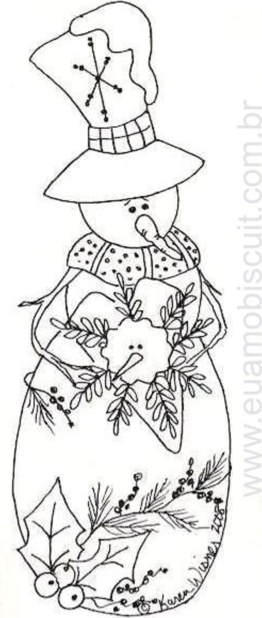 Snow Girl  MIS COSTURAS  Pinterest  Snowman Embroidery and Craft