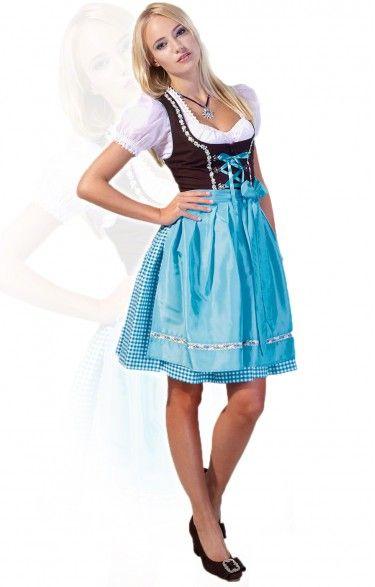 65740773d406 German mini dirndl 2pcs. Judy turquoise 50 cm oktoberfest dirndl ...