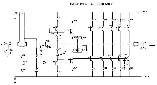 1000W Power Amplifier Electronics Pinterest