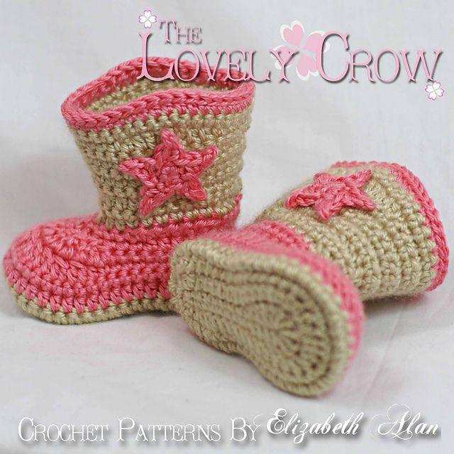 Baby Boot Scoot\'n Boots pattern by Elizabeth Alan | Crochet ...