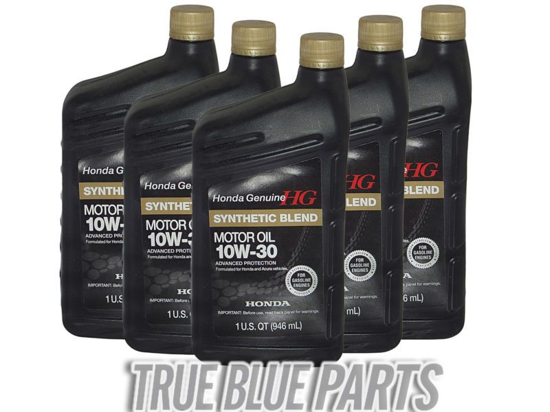 Honda Genuine Motor Oil 10w 30 Synthetic Blend 5 Quarts Pack 08798 9035 Motor Oil Oil Change Synthetic