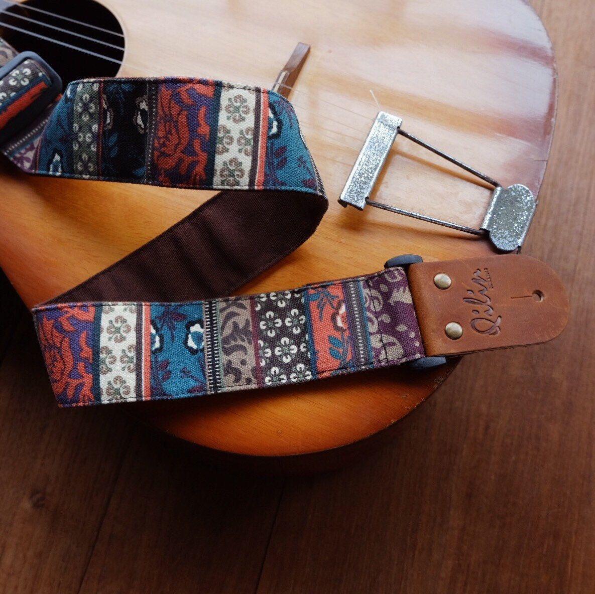 Green Retro Style Guitar Strap Guitar Strap Singing Guitar
