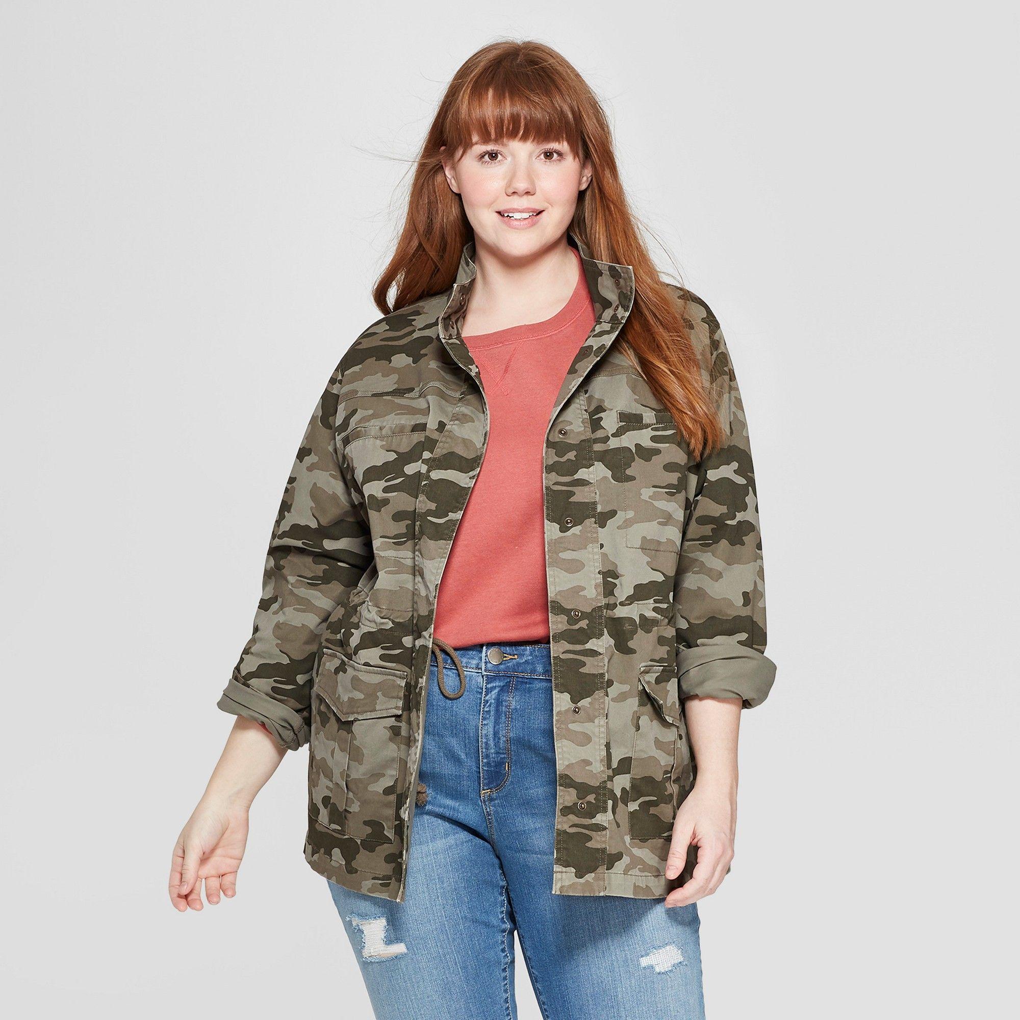 b82e7dd544 Women s Plus Size Long Sleeve Utility Jacket - Universal Thread Green 2X