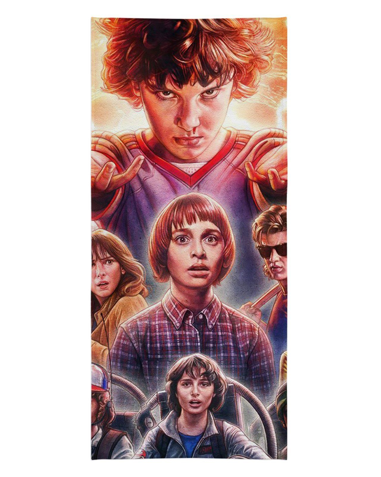 """Stranger Things Faces Beach Towel - 30""""x60 / Multicolor"""