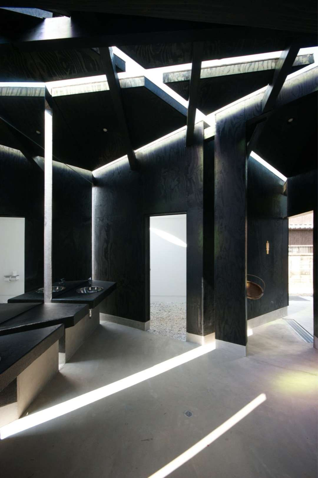 Flush with beauty a designer public restroom in japan architizer public restroom journal Public bathroom design architecture