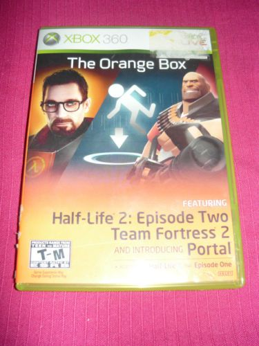 The Orange Box Disc and Case XBOX 360 Half-Life 2 Episode One Portal Fortress   Xbox 360, Xbox ...