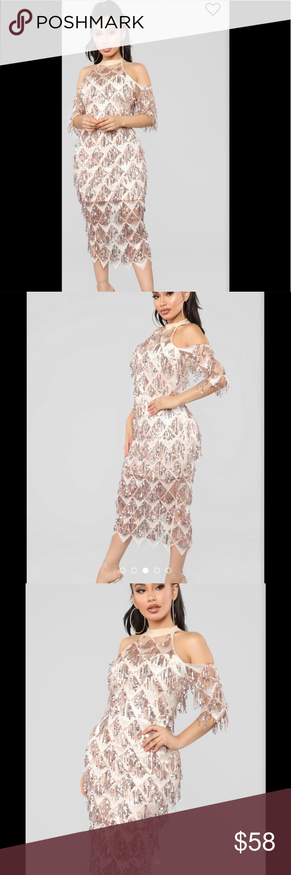 e242ebeeb5f FashionNova L ATISTE Dress Sz Med Rosegold NWT FashionNova L ATISTE Diamond  in the