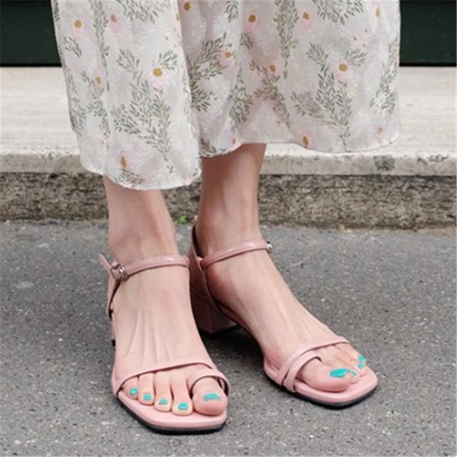 Fashion Square Head Casual Sandals