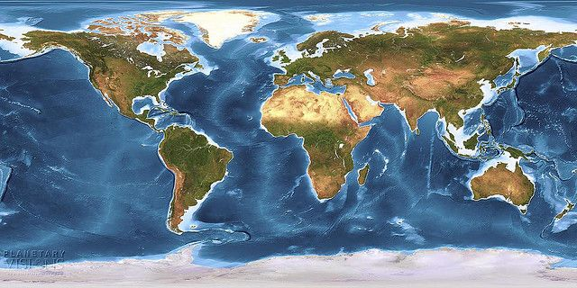 Global Earth texture map with bathymetry   Service Offering Ideas