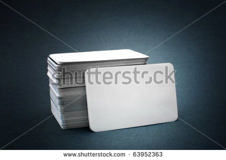 Business cards with rounded corners The pile of blank business - blank business card template