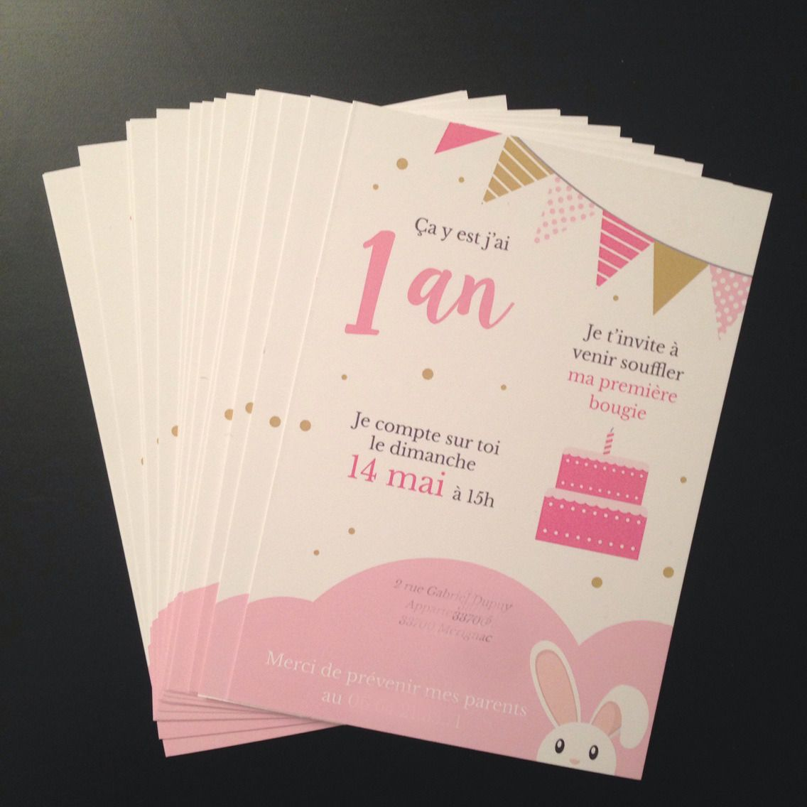 carte invitation anniversaire