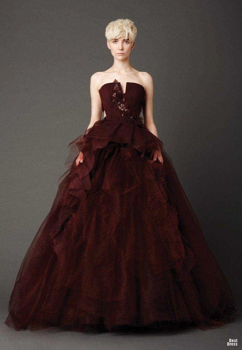 Wine Colored Wedding Dress Vera 2017
