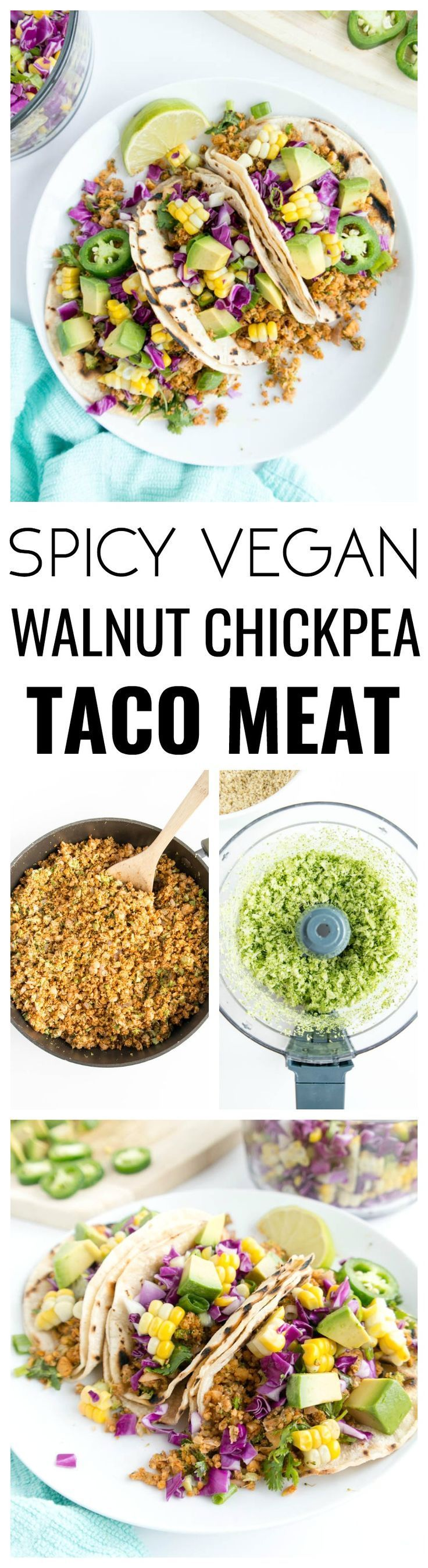 Spicy Walnut Chickpea Taco Meat » The Glowing Fridge