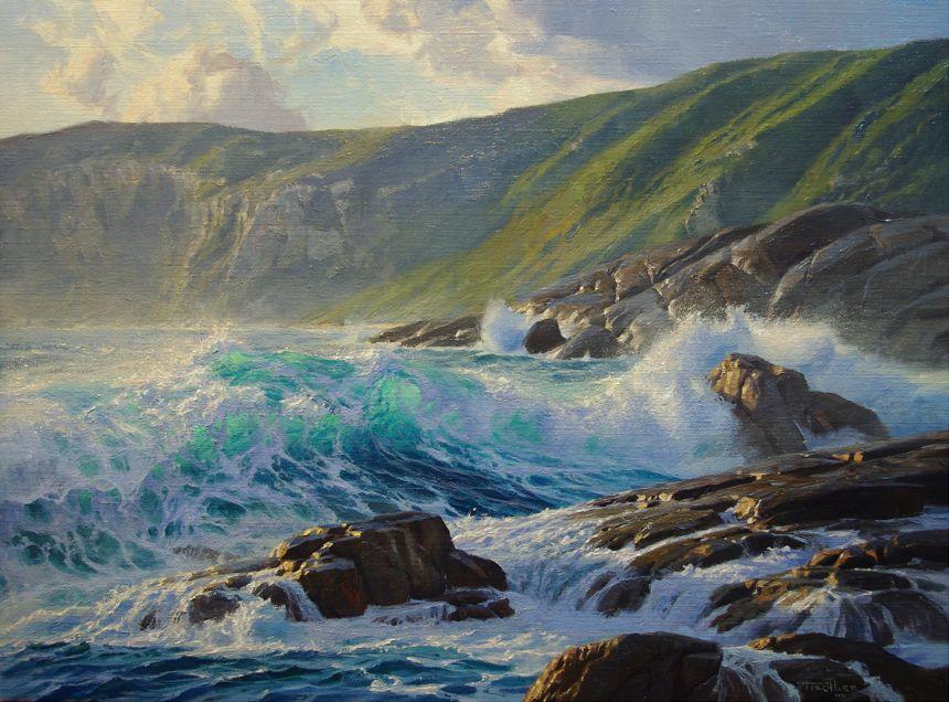 Marine Oil Paintings Andrew Tischler Seascape Paintings Surf Painting Ocean Painting