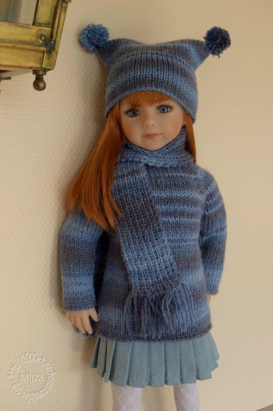 tricoter une echarpe pour poupon