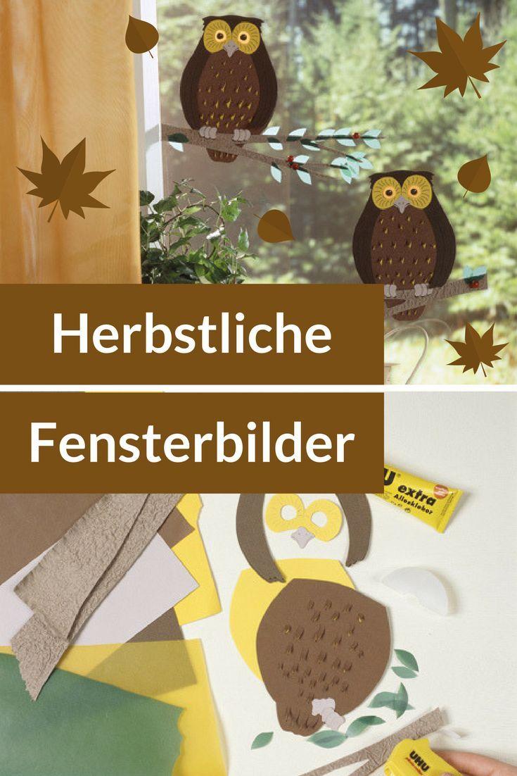 Herbst-Fensterbild selber basteln | selbst.de