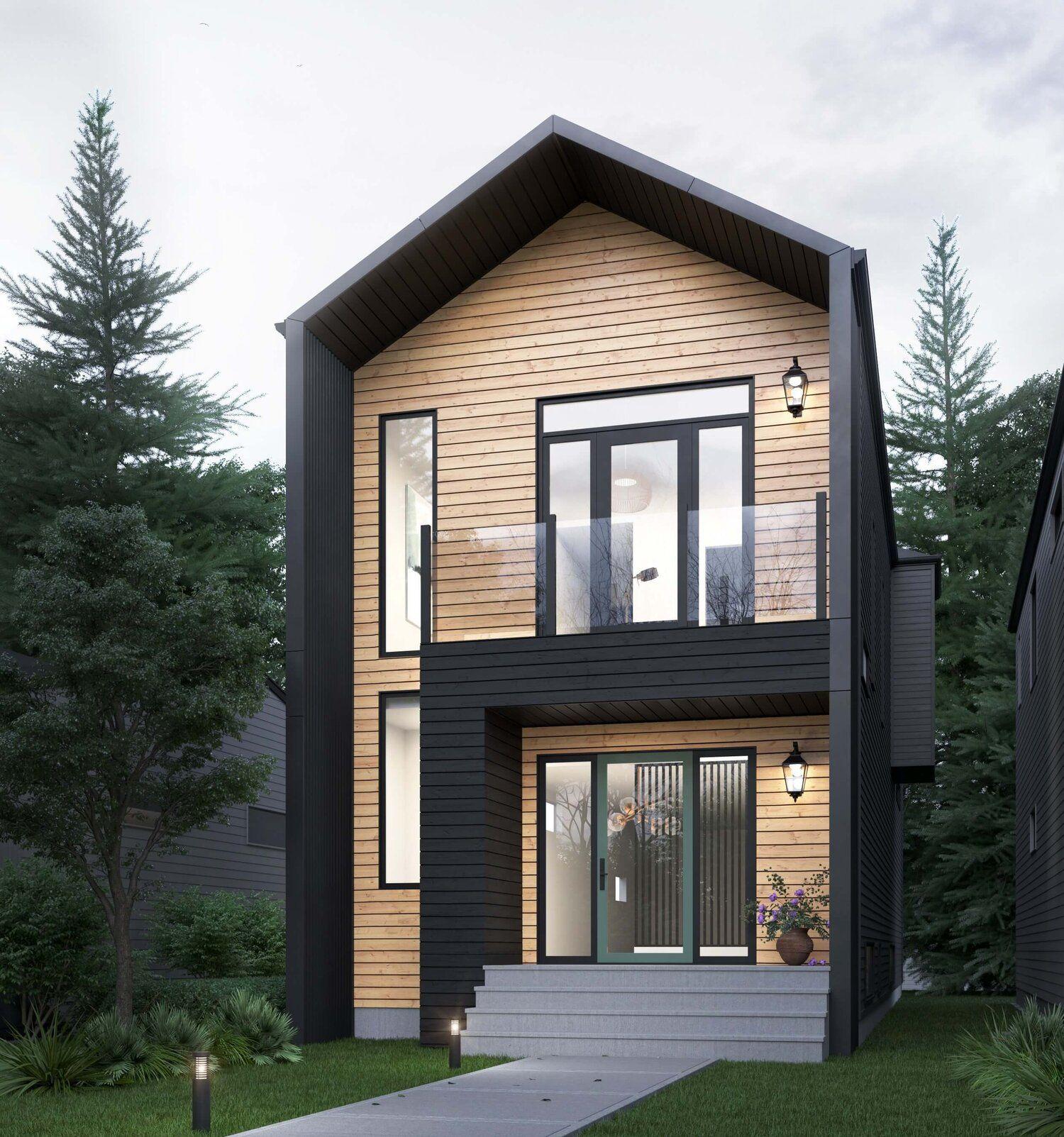 Accent Infills Edmonton S Infill Home Builder Small House Exteriors Small Modern House Plans Narrow House Designs