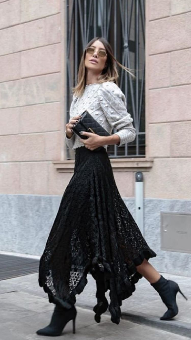 Love This Knit Sweater With Chic Black Lace Maxi Skirt Maxi Lace Skirt Black Lace Maxi Black Lace Maxi Skirt [ 1334 x 750 Pixel ]