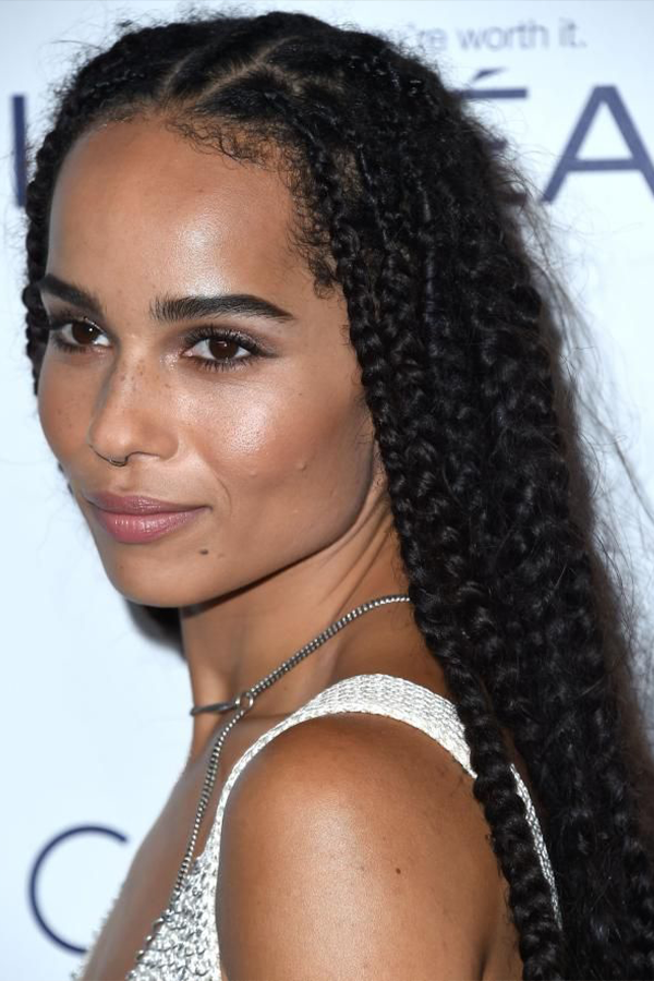 How To Style Baby Hairs To Achive On Point Looks Zoe Kravitz Braids Hair Styles Baby Hairstyles