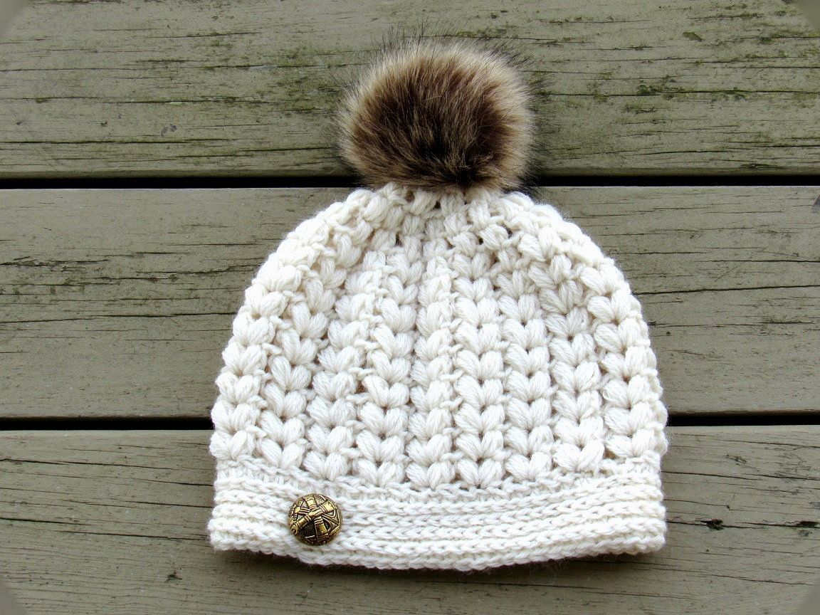 Do you love texture on your hats? Then this Puff Stitch Hat Crochet ...