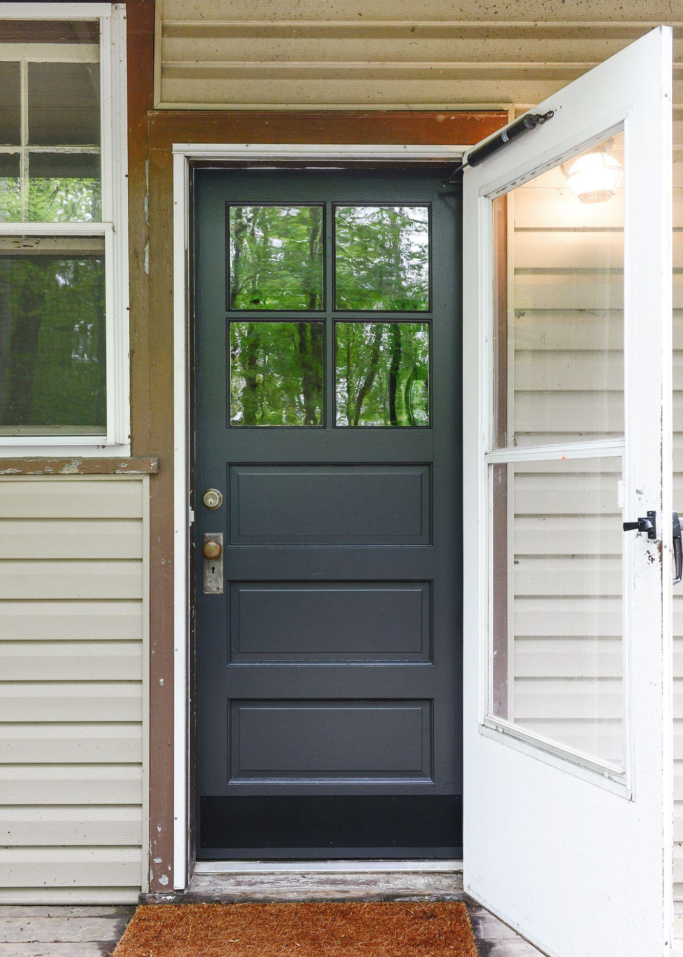 How To Prep, Repair + Paint A Front Door -