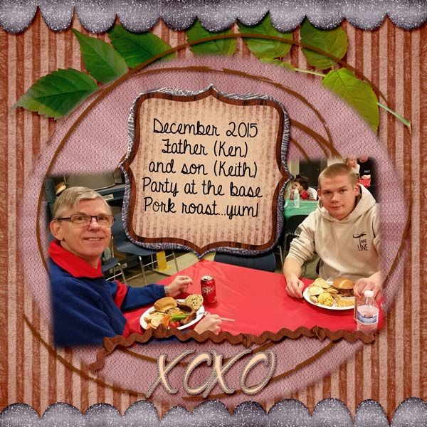 Keith and Dad at bases party, December 2015. Kit used: In My Heart by TSSA Kit links: In My heart Elements Pack: http://etsy.me/1T2gXXN In My Heart Paper Pack: http://etsy.me/20dTUZa In My Heart Paper Pack Extra: http://etsy.me/1Sx8Qme