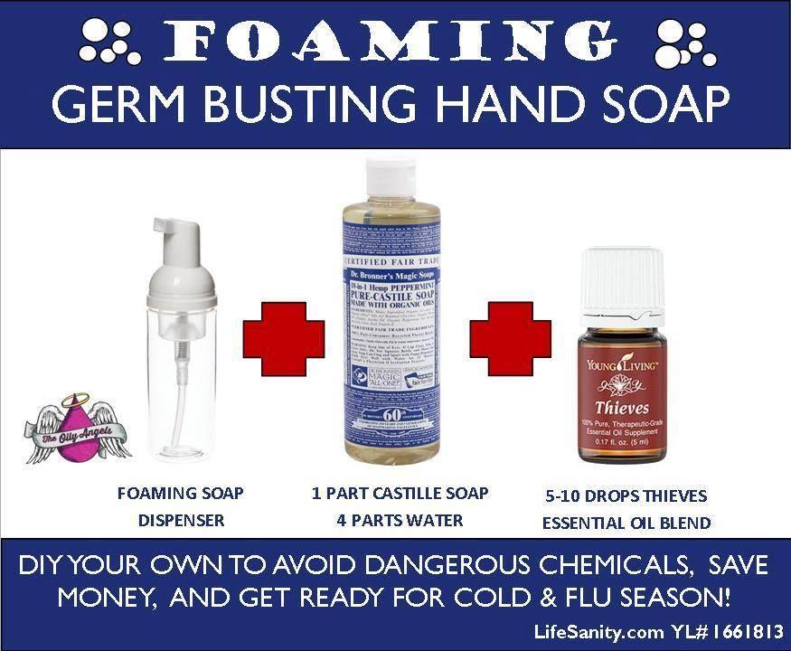 natural foam hand soap recipte essential oil tips recipes