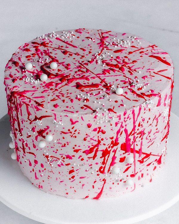 Buttercream Splatter Cake