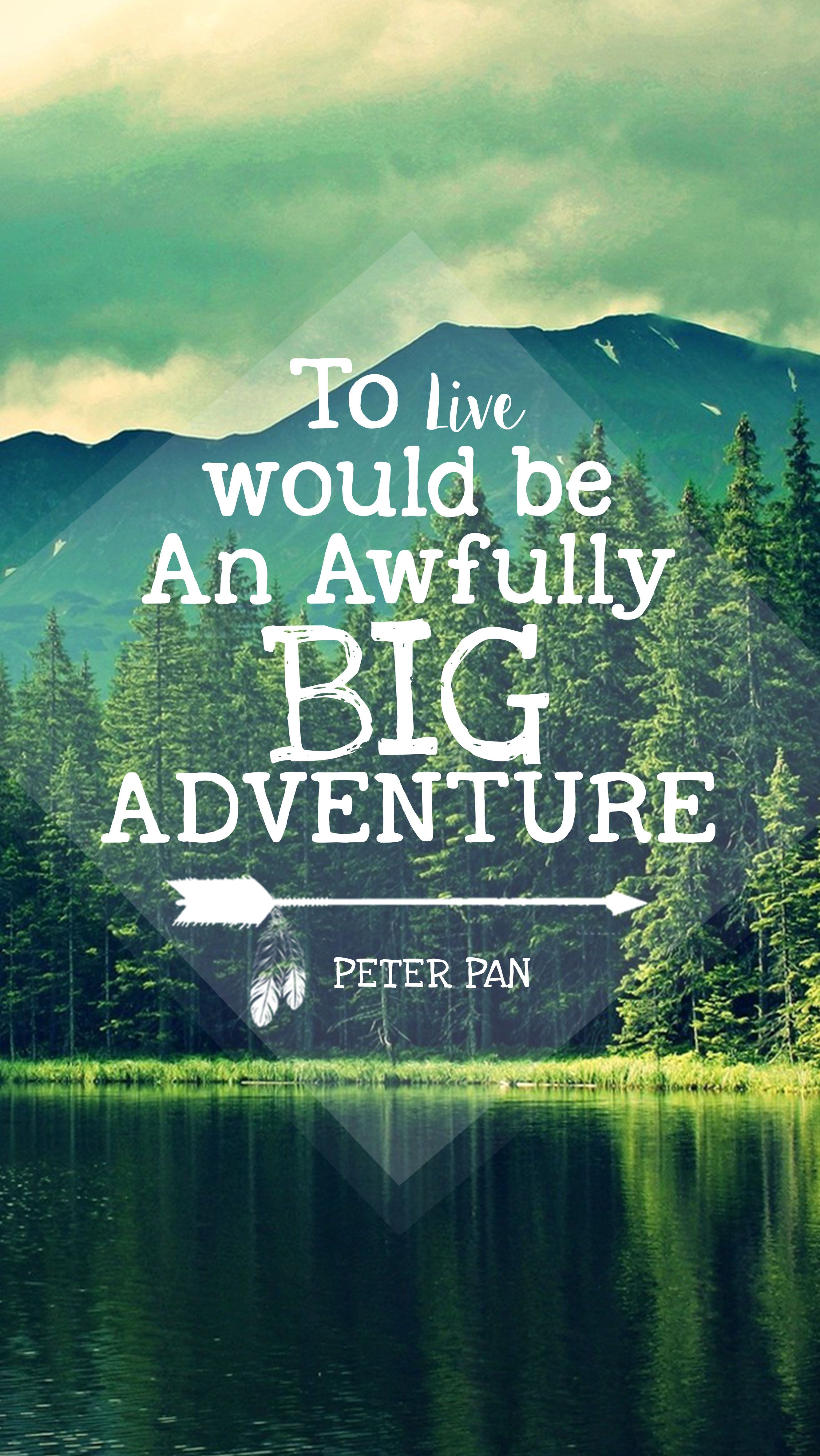peter pan quote iPhone wallpaper https://www.etsy.com/shop ...