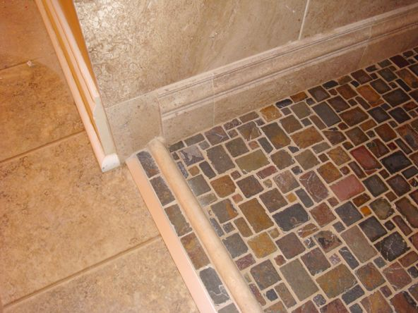 Super luxurious handicapped ADA compliant  Roll In  Shower   Cleveland. Accessible shower with no curb Gentle Slope Next we move to the