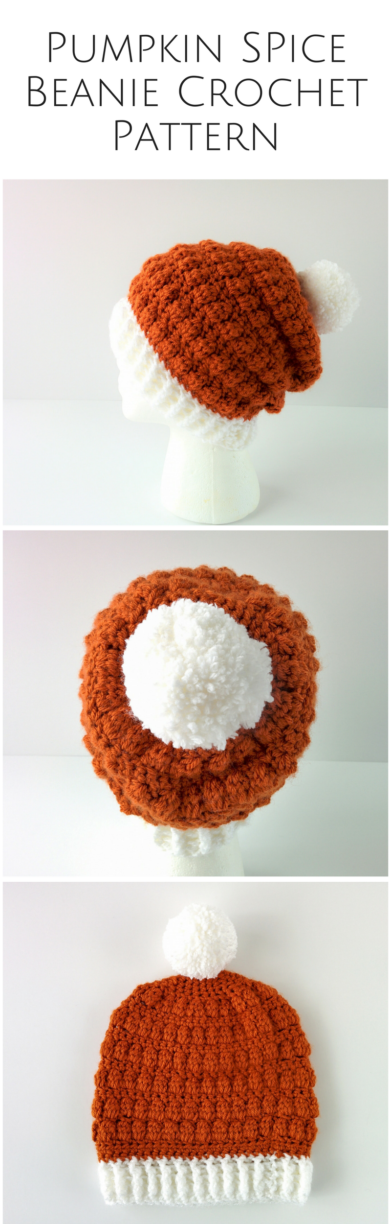 Pumpkin beanie crochet hat | Crochet Clothing | Pinterest | Gorros ...