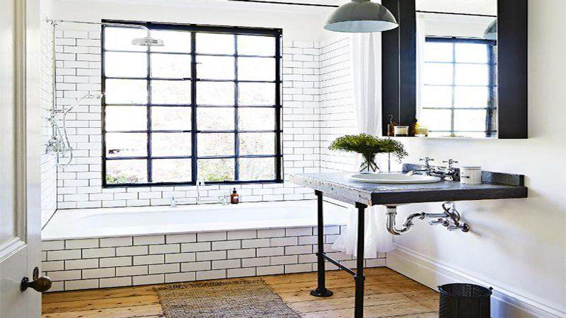 Du carrelage blanc dans la salle de bain cu0027est zen ! Design