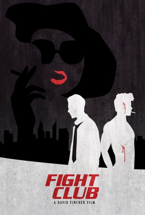 Minimalist Movie Poster Fight Club By Mina Liu Posteres De