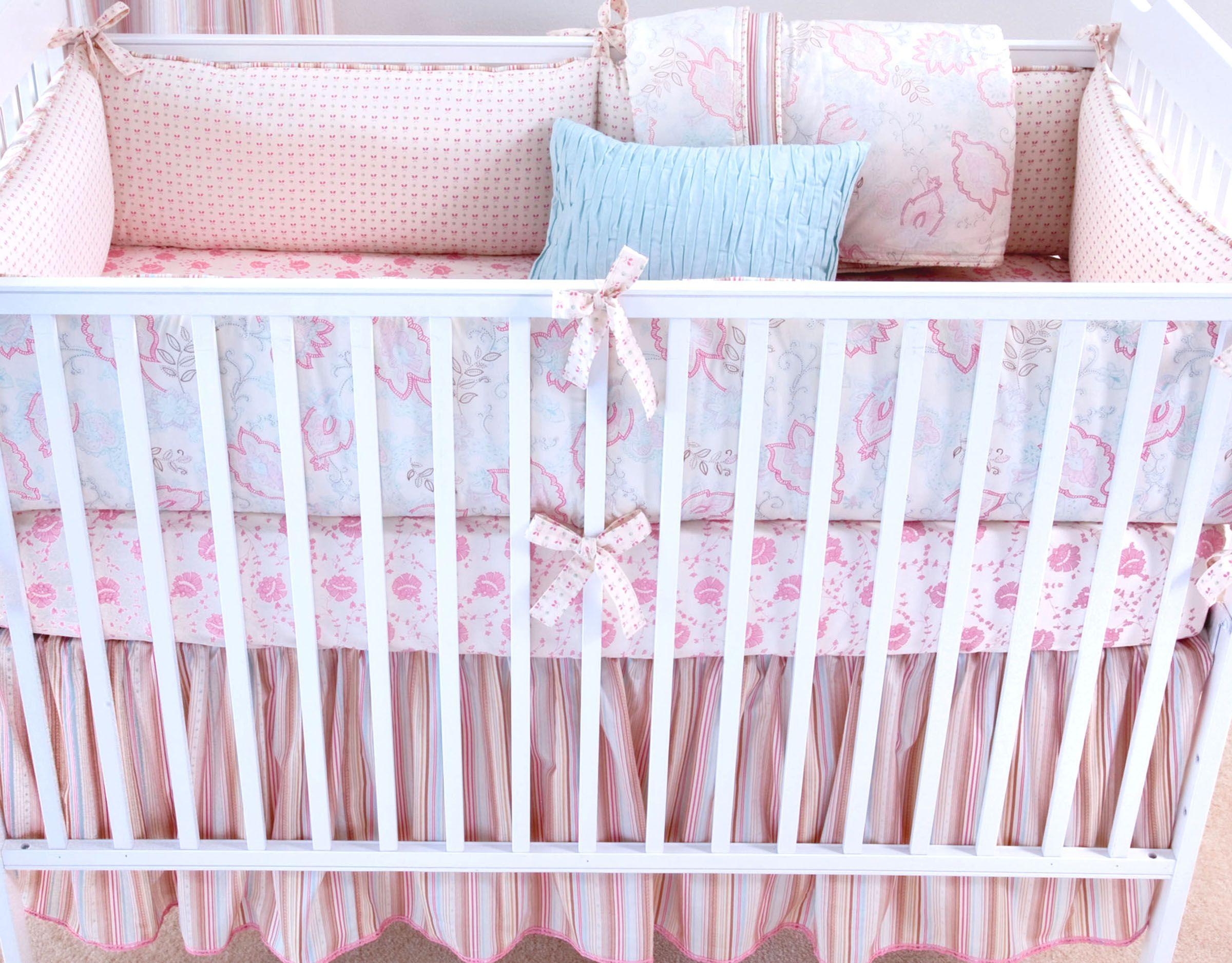Elizabeth Allen Atelier Oyster Camille crib bedding