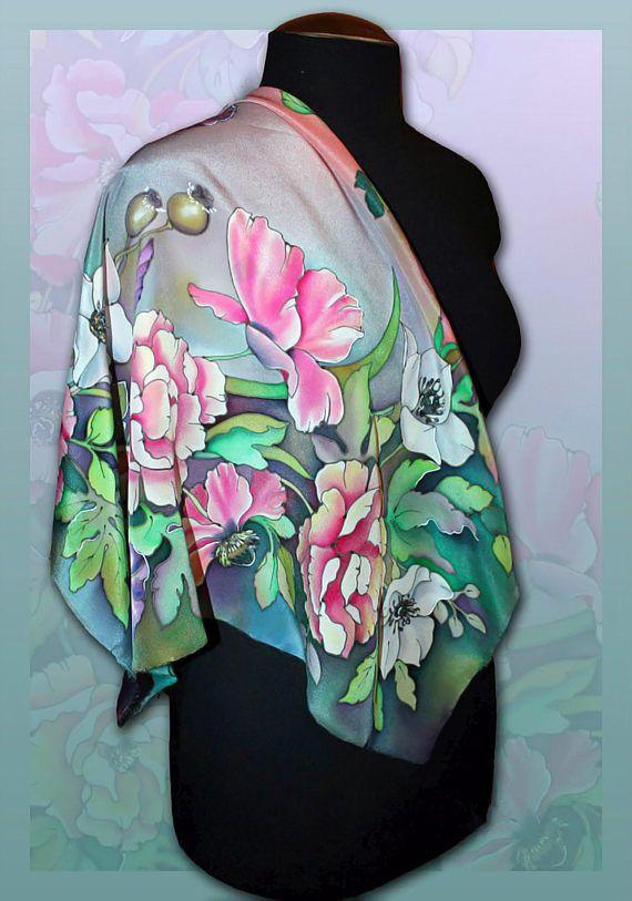 38203b0ad483 Silk scarf shawl Inspired By Summer
