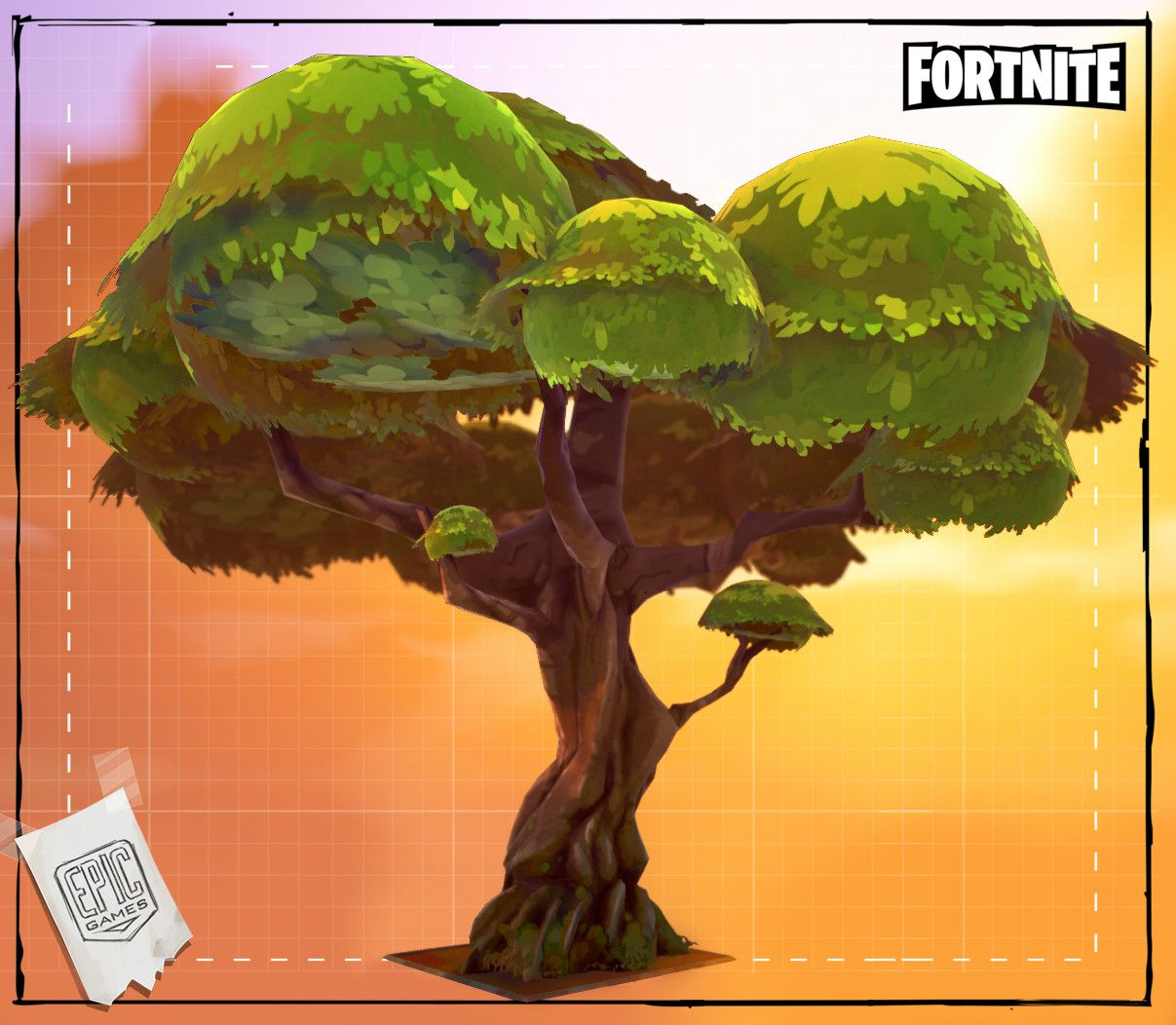 artstation fortnite trees 2014 tangi bodio - fortnite tree skin