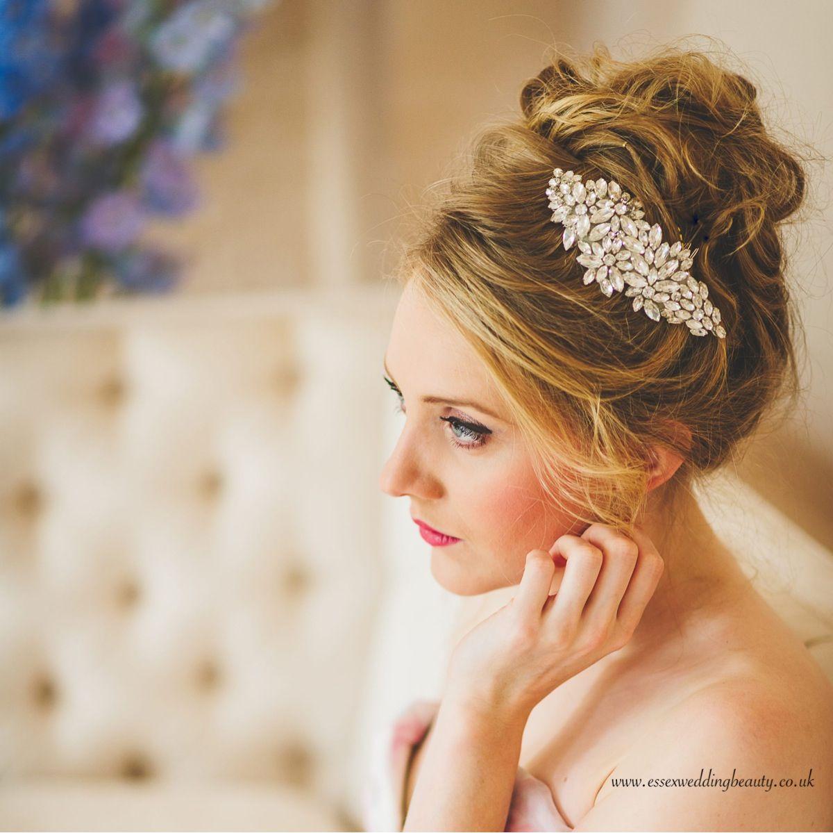 wedding hair jewellery - swarovski hair accessory for bride by