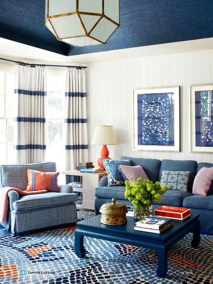 10 Tips For Mixing Patterns Blue Living Room With Pattern Lindsay C Harper