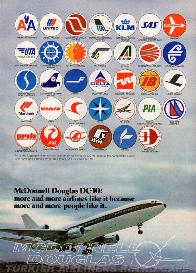Photographic Print//Poster Mcdonnell Douglas Dc-10 Aircraft