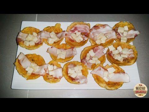Canasticas De Platano Rellenas Con Queso Mozarrella y Tocino !Deliciosas! - YouTube