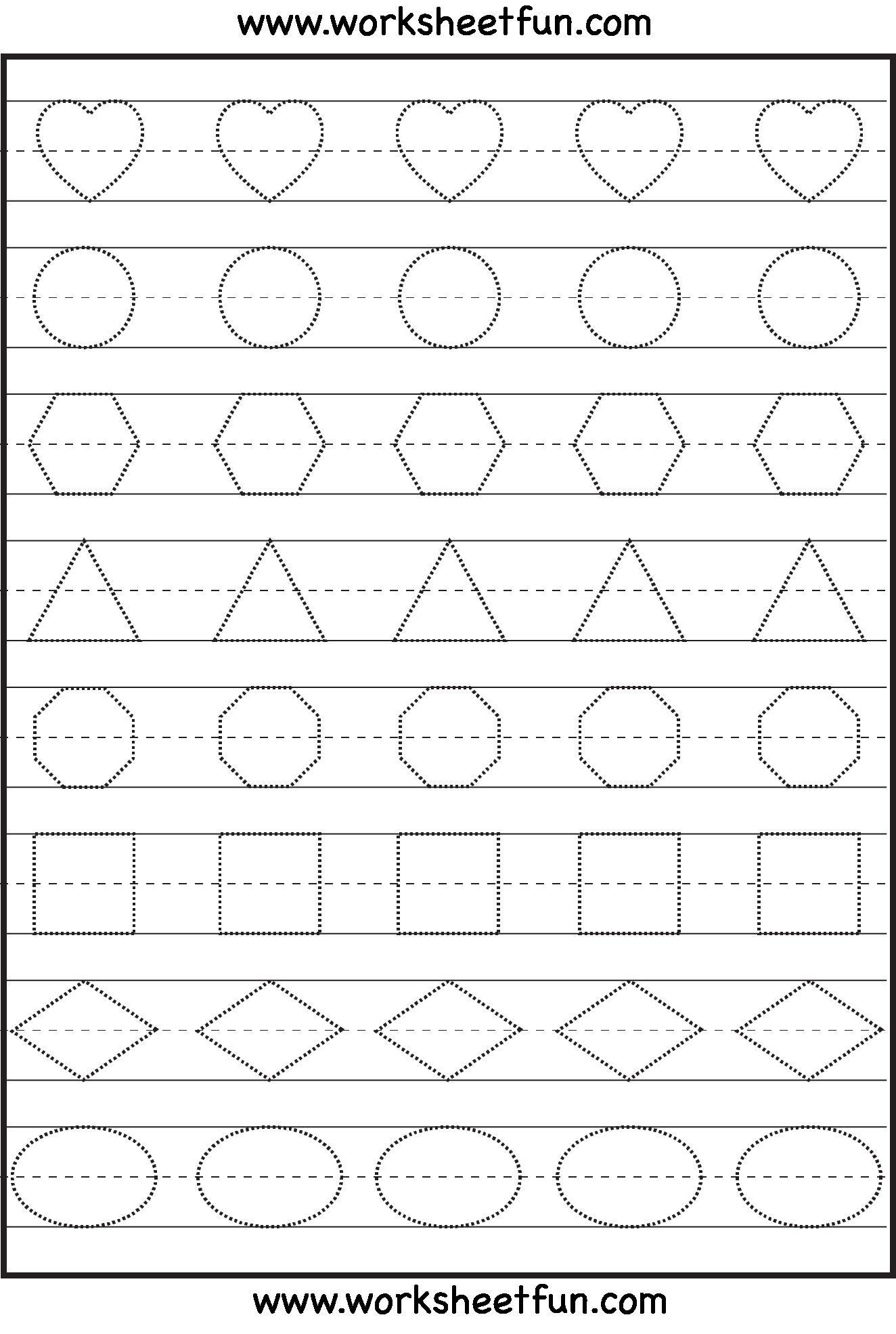 22 Geometric Shapes Kindergarten Worksheets On Drawing