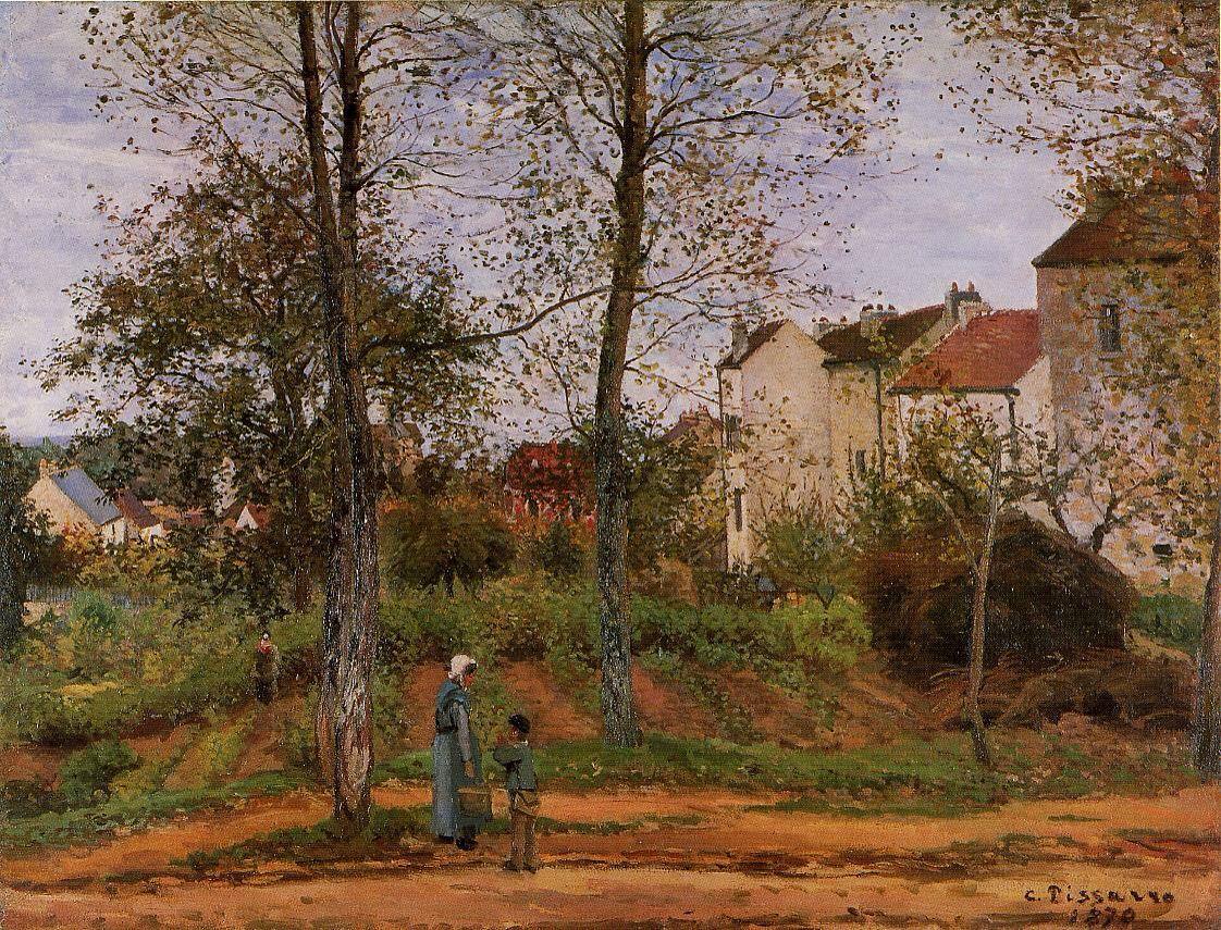 Camille Pissarro – Landscape in the Vicinity of Louveciennes, Autumn [1870]