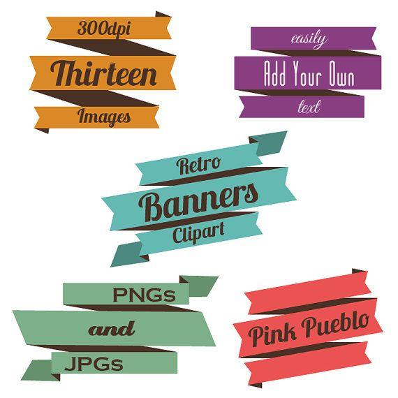 retro banners clipart clip art 3 vintage ribbons clipart clip art rh pinterest com
