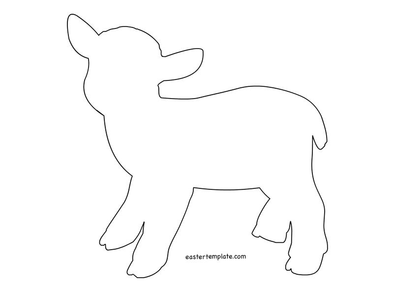 Easter Lamb Template coloring page | DIY | Pinterest | Lamb