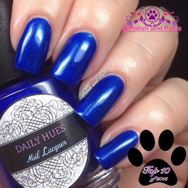 From my 2015 Top 10 Favorite polishes... Blake by @dailyhuesnaillacquer. The blue that made me love blue polish!  #nailpolish #nails #nailswatches #polishaddict #nailblogger #mani #nailsofinstagram #polishaholic #nailaccount #prettynails #nailsoftheday #instanails #nailart #nailpromote #notd #featuremynails #cutenails #nails2inspire #motd #polishandpaws #nailsdid #nailstagram #nailswag #hpblogger #2015favorites #top10polishes #bluepolish #dailyhues #dailyhuesnaillacquer